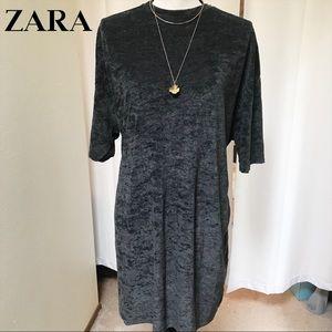 (On Hold)NWT Zara Terry Oversized T-Shirt Dress- L